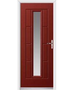 Ultimate Vermont Rockdoor in Ruby Red with Glazing