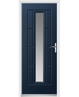Ultimate Vermont Rockdoor in Sapphire Blue with Glazing