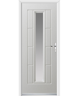 Ultimate Vermont Rockdoor in White with Glazing