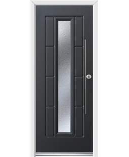 Ultimate Vermont Rockdoor in Anthracite Grey with Gluechip Glazing and Bar Handle