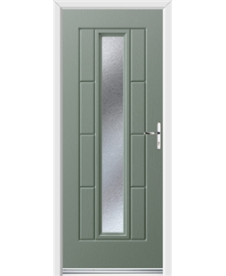 Ultimate Vermont Rockdoor in Chartwell Green with Gluechip Glazing
