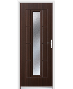 Ultimate Vermont Rockdoor in Mahogany with Gluechip Glazing