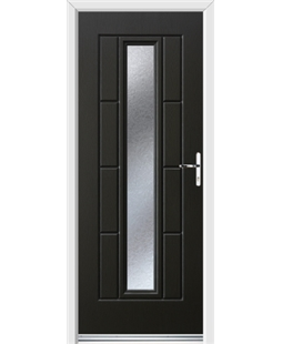 Ultimate Vermont Rockdoor in Onyx Black with Gluechip Glazing