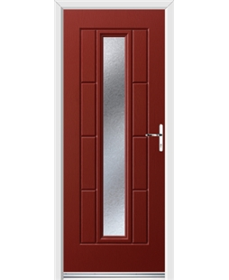 Ultimate Vermont Rockdoor in Ruby Red with Gluechip Glazing