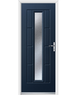 Ultimate Vermont Rockdoor in Sapphire Blue with Gluechip Glazing