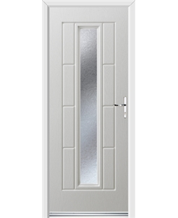 Ultimate Vermont Rockdoor in White with Gluechip Glazing
