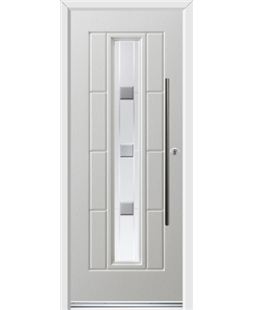 Ultimate Vermont Rockdoor in Blue White with Grey Shades and Bar Handle
