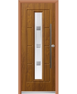 Ultimate Vermont Rockdoor in Light Oak with Grey Shades and Bar Handle