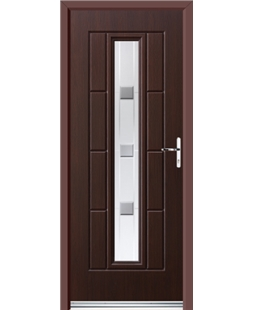 Ultimate Vermont Rockdoor in Rosewood with Grey Shades