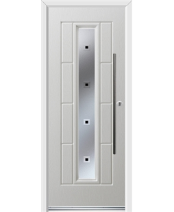 Ultimate Vermont Rockdoor in Blue White with Quadra and Bar Handle