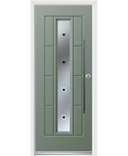 Ultimate Vermont Rockdoor in Chartwell Green with Quadra and Bar Handle