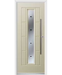 Ultimate Vermont Rockdoor in Cream with Quadra and Bar Handle