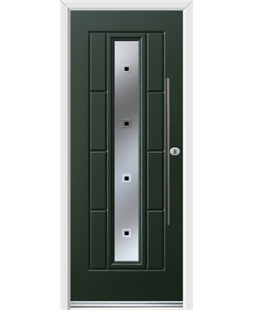 Ultimate Vermont Rockdoor in Emerald Green with Quadra and Bar Handle