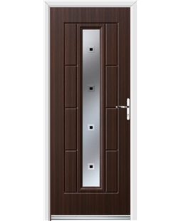 Ultimate Vermont Rockdoor in Mahogany with Quadra