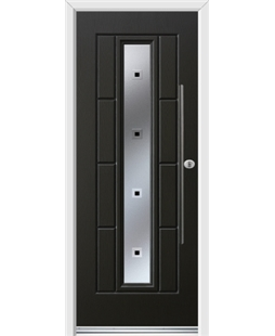 Ultimate Vermont Rockdoor in Onyx Black with Quadra and Bar Handle