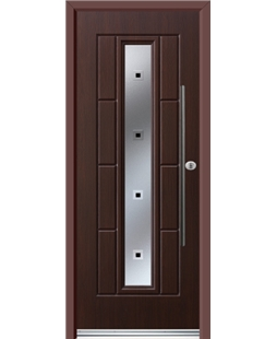 Ultimate Vermont Rockdoor in Rosewood with Quadra and Bar Handle