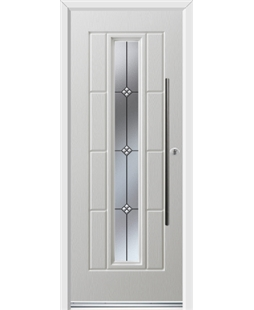 Ultimate Vermont Rockdoor in Blue White with Trio and Bar Handle