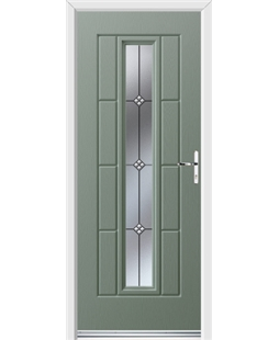 Ultimate Vermont Rockdoor in Chartwell Green with Trio