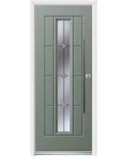 Ultimate Vermont Rockdoor in Chartwell Green with Trio and Bar Handle