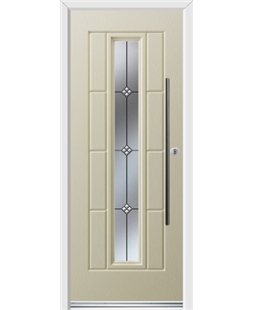 Ultimate Vermont Rockdoor in Cream with Trio and Bar Handle