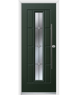 Ultimate Vermont Rockdoor in Emerald Green with Trio and Bar Handle