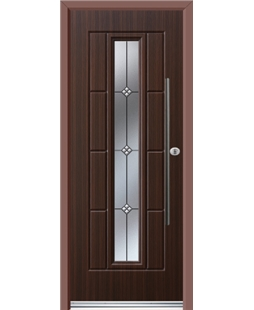Ultimate Vermont Rockdoor in Mahogany with Trio and Bar Handle