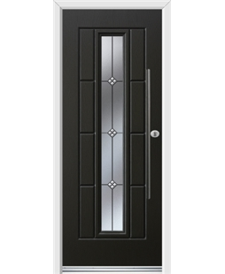 Ultimate Vermont Rockdoor in Onyx Black with Trio and Bar Handle
