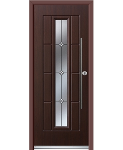 Ultimate Vermont Rockdoor in Rosewood with Trio and Bar Handle