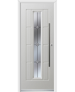 Ultimate Vermont Rockdoor in White with Trio and Bar Handle