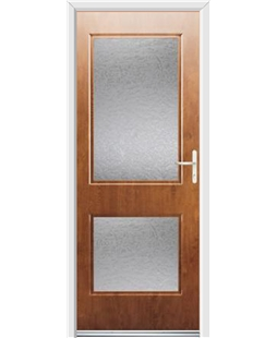 Ultimate Virginia Rockdoor in Light Oak with Gluechip Glazing