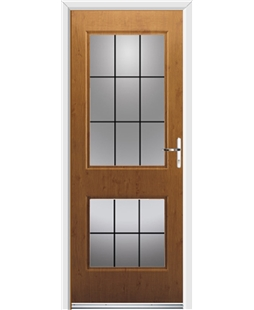 Ultimate Virginia Rockdoor in Irish Oak with Square Lead