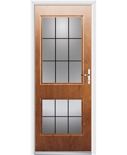 Ultimate Virginia Rockdoor in Light Oak with Square Lead