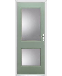Ultimate Virginia Rockdoor in Chartwell Green with Glazing