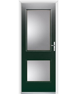 Ultimate Virginia Rockdoor in Emerald Green with Glazing