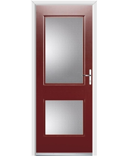 Ultimate Virginia Rockdoor in Ruby Red with Glazing