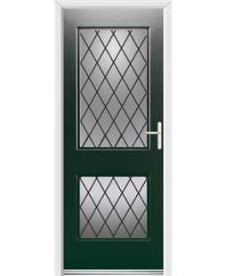 Ultimate Virginia Rockdoor in Emerald Green with Diamond Lead