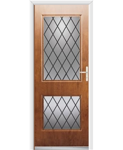 Ultimate Virginia Rockdoor in Light Oak with Diamond Lead