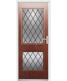 Ultimate Virginia Rockdoor in Mahogany with Diamond Lead
