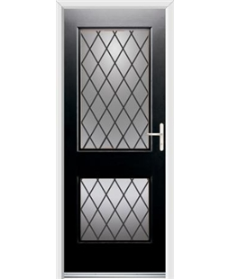 Ultimate Virginia Rockdoor in Onyx Black with Diamond Lead