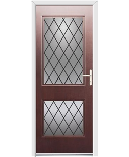 Ultimate Virginia Rockdoor in Rosewood with Diamond Lead