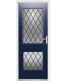 Ultimate Virginia Rockdoor in Sapphire Blue with Diamond Lead