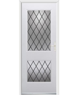Ultimate Virginia Rockdoor in White with Diamond Lead