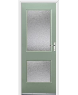 Ultimate Virginia Rockdoor in Chartwell Green with Gluechip Glazing