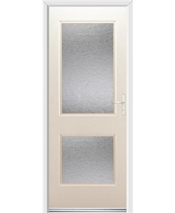 Ultimate Virginia Rockdoor in Cream with Gluechip Glazing