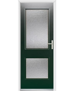 Ultimate Virginia Rockdoor in Emerald Green with Gluechip Glazing