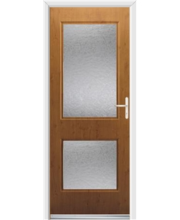Ultimate Virginia Rockdoor in Irish Oak with Gluechip Glazing