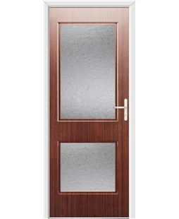 Ultimate Virginia Rockdoor in Mahogany with Gluechip Glazing