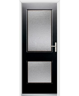 Ultimate Virginia Rockdoor in Onyx Black with Gluechip Glazing