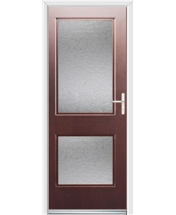 Ultimate Virginia Rockdoor in Rosewood with Gluechip Glazing