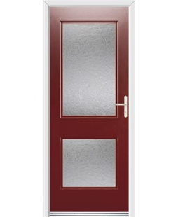 Ultimate Virginia Rockdoor in Ruby Red with Gluechip Glazing